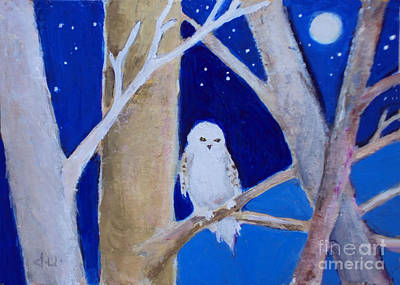 Painting - Snowy Owl by Diane Ursin