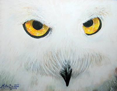 Pastel - Snowy Owl by Mike Benton