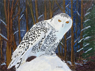 Painting - Snowy Owl by Mike Robles
