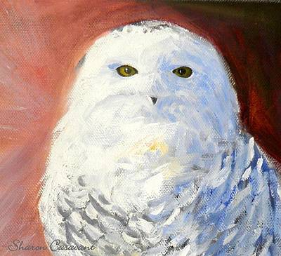 Painting - Snowy Owl by Sharon Casavant
