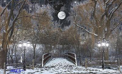 Snowy Park Original by Michael Rucker