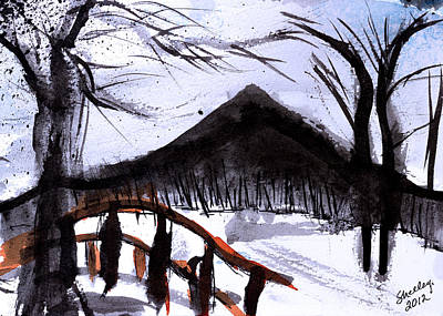 Painting - Snowy Path by Shelley Bain