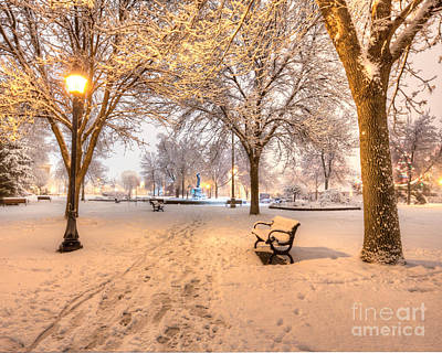 Snowy Path To Wenonah Art Print