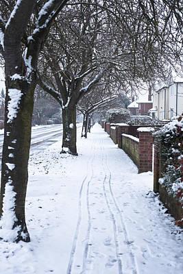 Snowy Path Art Print by Tom Gowanlock