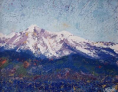 Painting - Snowy Peaks by Margaret Bobb