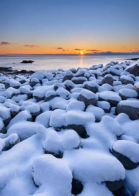 Snowy Pebbles Art Print by Michael Blanchette