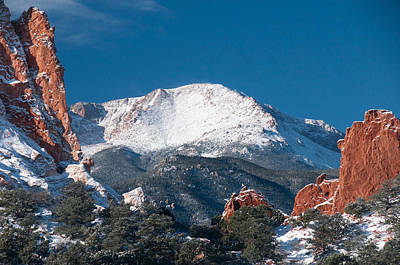 Snowy Pikes Peak Art Print
