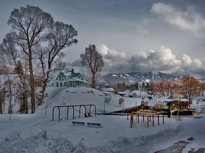 Snowy Playground Art Print