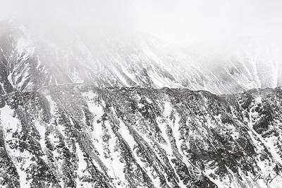 Black White Photograph - Snowy Ridge Abstract by Aaron Spong