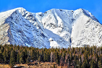 Photograph - Snowy Ridge by Shane Bechler