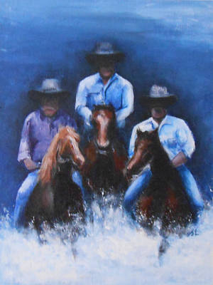 Snowy River Art Print by Jane  See