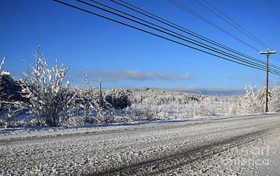 Snowy Roads Art Print by Michael Mooney