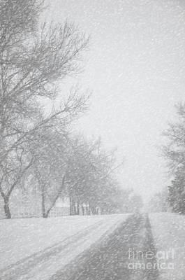 Snowy Rural Road Art Print by Birgit Tyrrell