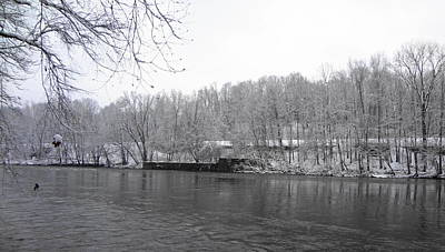 Photograph - Snowy Schuylkill by Michael Porchik