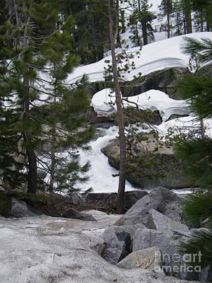 Art Print featuring the photograph Snowy Sierras by Bobbee Rickard