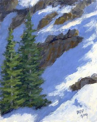 Painting - Snowy Slope by David King