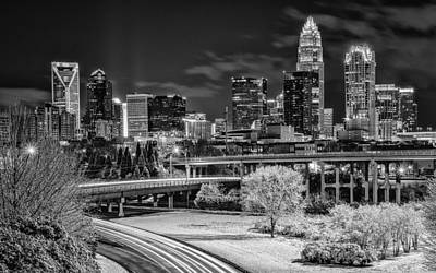 Charlotte Skyline Photograph - Snowy South by Brian Young