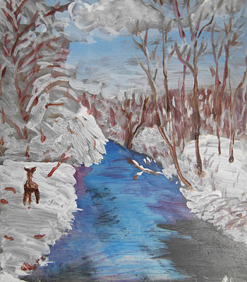Painting - Snowy Stream by Christine Lathrop