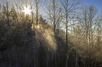 Photograph - Snowy Sun Rays by Jay Huron