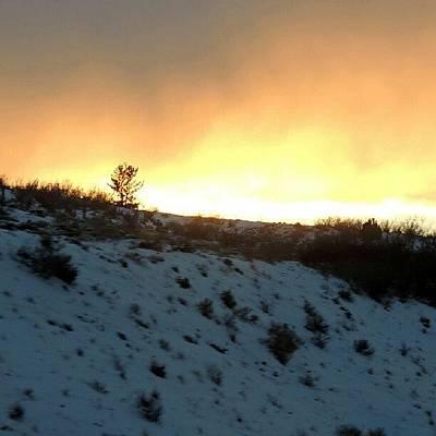 Sundown Wall Art - Photograph - Snowy Sundown by Kelli Stowe