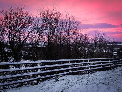 Photograph - Snowy Sunrise Over Western Ireland by James Truett