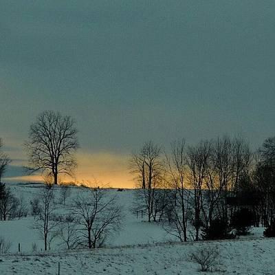 Sundown Wall Art - Photograph - Snowy Sunset by Kelli Stowe