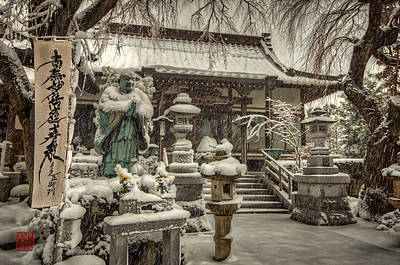 Snowy Temple Art Print