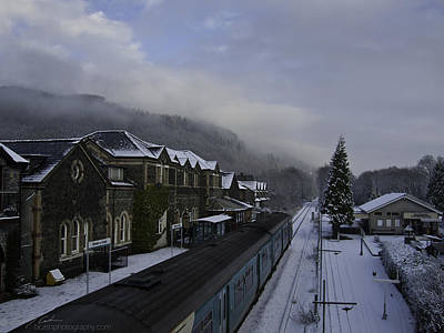 Photograph - Snowy Train Station by Beverly Cash