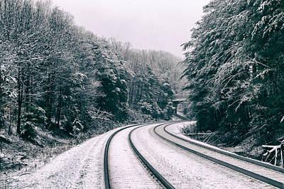 Snowy Travel Art Print
