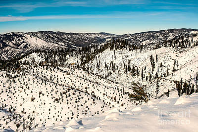 Landsacape Photograph - Snowy View by Robert Bales