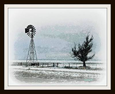 Photograph - Snowy West Texas Plains by Dale Paul