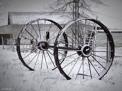 Snowy Wheel-n-axle Art Print by Matt Taylor