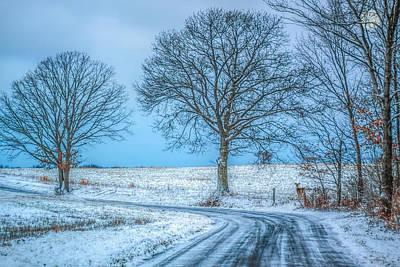 Snowy Digital Art - Snowy Winter Morning by Randy Steele