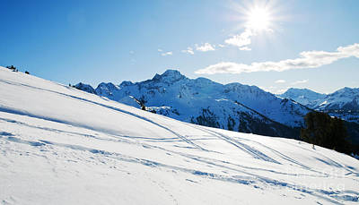 Alps Photograph - Snowy Winter Mountains by Michal Bednarek