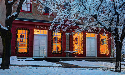Snowy Winter Smoot Hall Brigham Young Academy Art Print by Gary Whitton