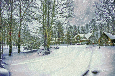 Painting - Snowy Winter's Day by Barry Jones