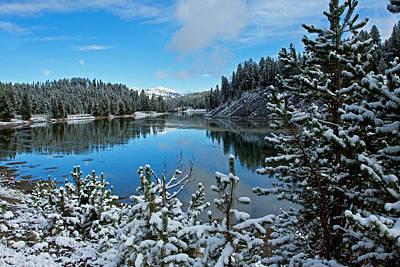Photograph - Snowy Yellowstone  by Shari Sommerfeld
