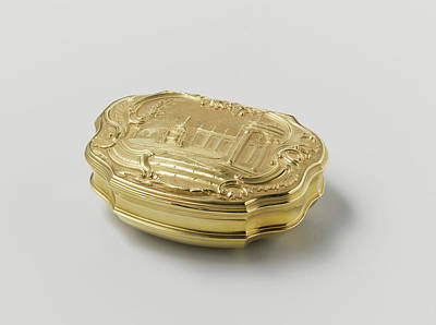 Snuff Box Of Gold, Adorned With Driven Representation Print by Quint Lox