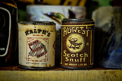 Old Photograph - Snuff Tins by Heather Applegate