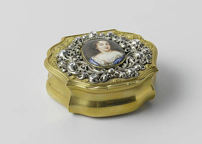 Queen Mary Drawing - Snuffbox With A Breast Ornament With A Portrait Of Queen by Litz Collection