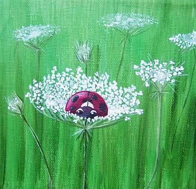 Ladybug Painting - Snug As A Bug by Tracie Davis