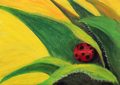 Painting - Snug Ladybug by Janet Greer Sammons