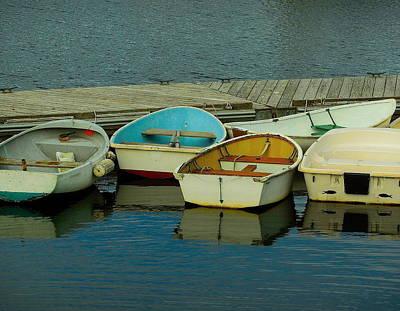 Snuggle Boats Art Print