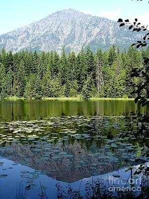 Art Print featuring the photograph Snyder Lake Reflection by Kerri Mortenson