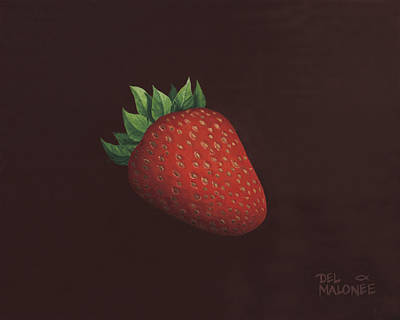 Strawberry Painting - So Berry Good by Del Malonee