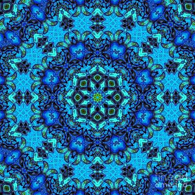 Digital Art - So Blue - 33 - Mandala by Aimelle