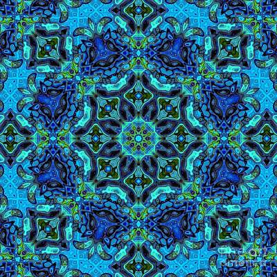 Digital Art - So Blue 35 - Mandala by Aimelle