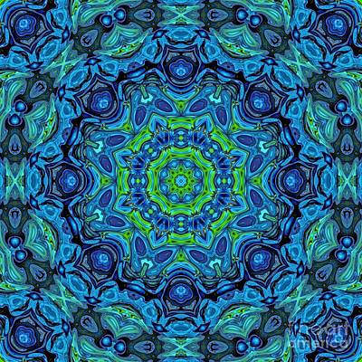 Digital Art - So Blue - 43 - Mandala by Aimelle