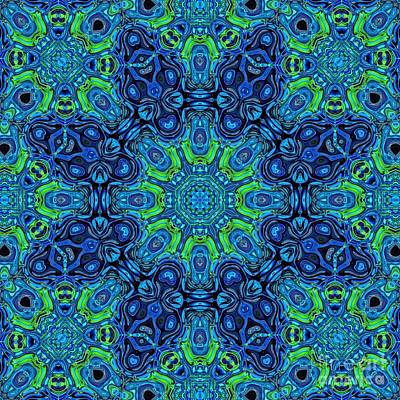 Digital Art - So Blue - 49 - Mandala by Aimelle