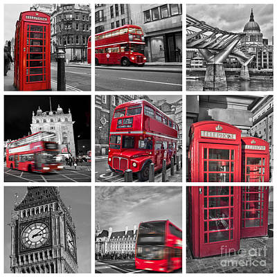 London Phone Booth Photograph - So British by Delphimages Photo Creations
